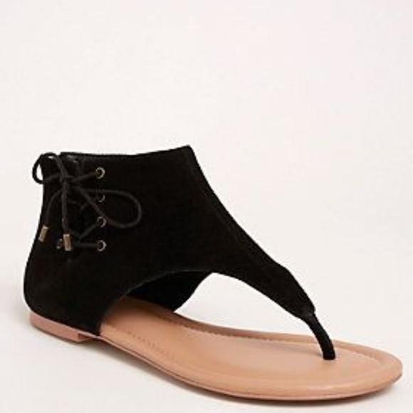 26301b8a2c70 Torrid Genuine Suede Lace Up T-Strap Sandals 10W. M 5b5b73a0035cf1c925e32949